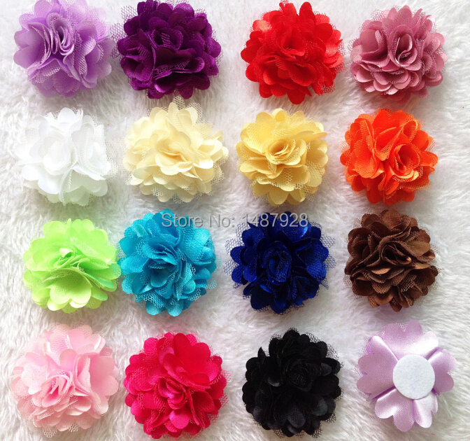 fashion hair accessory rosettes diy flowers satin silk carnation fabric flower flat back free shipping a115 - Carnation Flower Colors