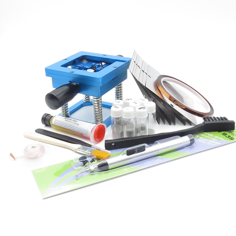BGA rework fixtures Kit 90x90 Universal Reballing Bga Stencil Kit for Laptop Gameconsole 10 pcs Stencil