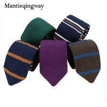 Mantieqingway Men s Suits Knit Tie Plain Necktie For Wedding Party Tuxedo Striped Woven Skinny Gravatas