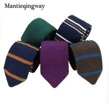 Mantieqingway font b Men s b font font b Suits b font Knit Tie Plain Necktie