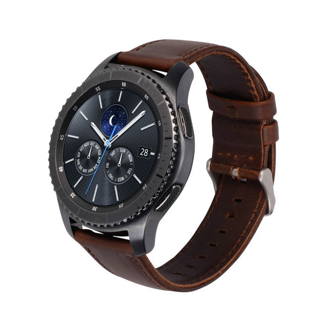 Genuine Leather Strap For Samsung Gear S3 Smart Watch Band Replacement Watch Bracelet For Gear S3 Classic frontier Smart Watch