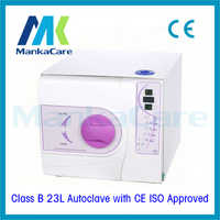 23L Autoclave in Purple Color Dental materials disinfection cabinet dental instruments vacuum sterilizer