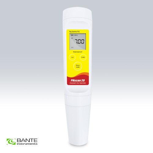 Бренд BANTE карманный цифровой рН тестер метр тесто мяса кожи бумаги Semisolid плоский зонд Ручка Тип Высокая точность 0,05 Водонепроницаемый