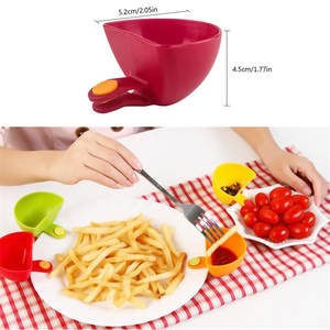 Bowl Clip-Cup Saucer Sugar-Salt Kitchen for 8PCS Tableware Ketchup Assorted Jam-Dip Useful