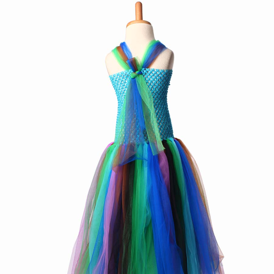 keenomommy pretty peacock tutu dress for girls birthday outfit photo