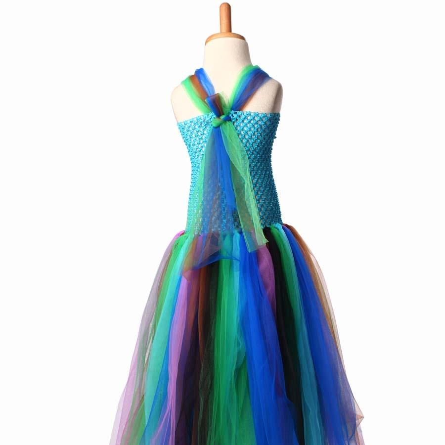 keenomommy pretty peacock tutu dress for girls birthday outfit photo