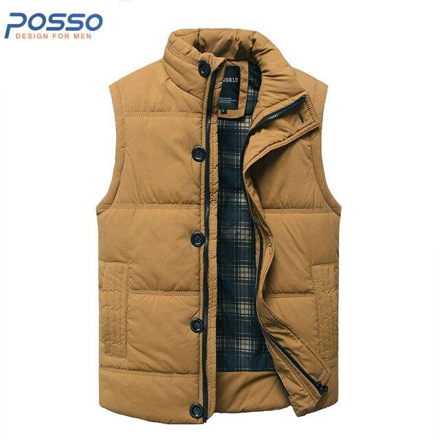 Sleeveless jacket men puffer vest men quilted jacket winter cotton ... : mens brown quilted jacket - Adamdwight.com