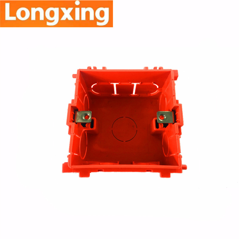 Wholesale 88mm 85mm 53mm Longxing Multifuntion Socket Box Mounting Box Internal Cassette Orange PVC Back Box