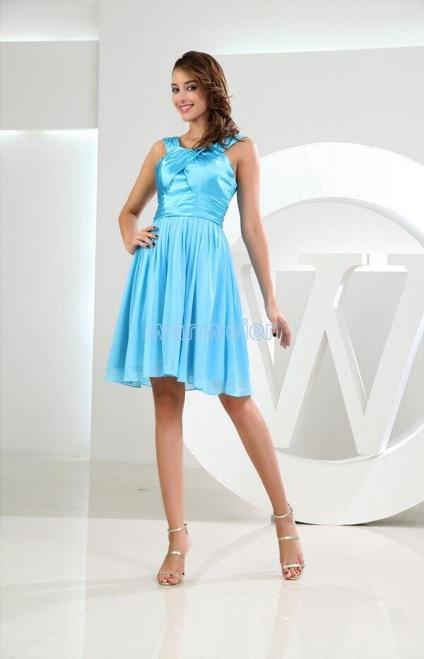 free shipping 2013 tube top short mini sky blue vestidos formales brides maid dress plus size women's formal Bridesmaid Dresses