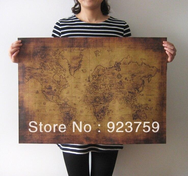 combinar o transporte grande estilo vintage pintura decorativa poster paper retro antigo mapa do mundo mapa