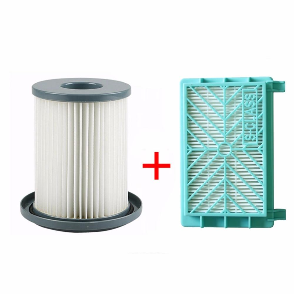 2pcs/set Vacuum Cleaner HEPA Filter element + Air filter for Philips FC8720 FC8724 FC8732 FC8734 FC8736 FC8738 FC8740 FC8748 стоимость
