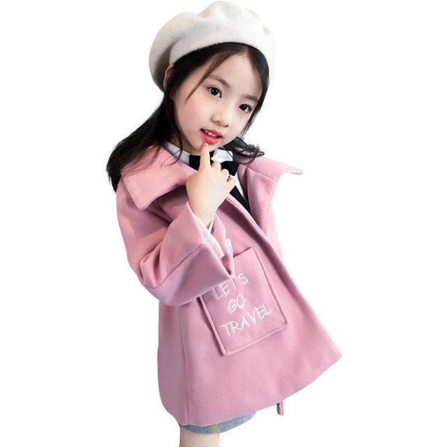 0e1984a328bd DFXD Teenage Girls Long Winter Warm Coat Kids Fashion Princess Thick Trench  Outwear Children Woolen Outwear Girls Clothes 4-16Y