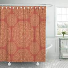 Shower Curtain with Hooks Ethnic with Mangalas Indian Sites and Boho Chic Summer for Fills Coloring Books Bathroom Curtains(China)