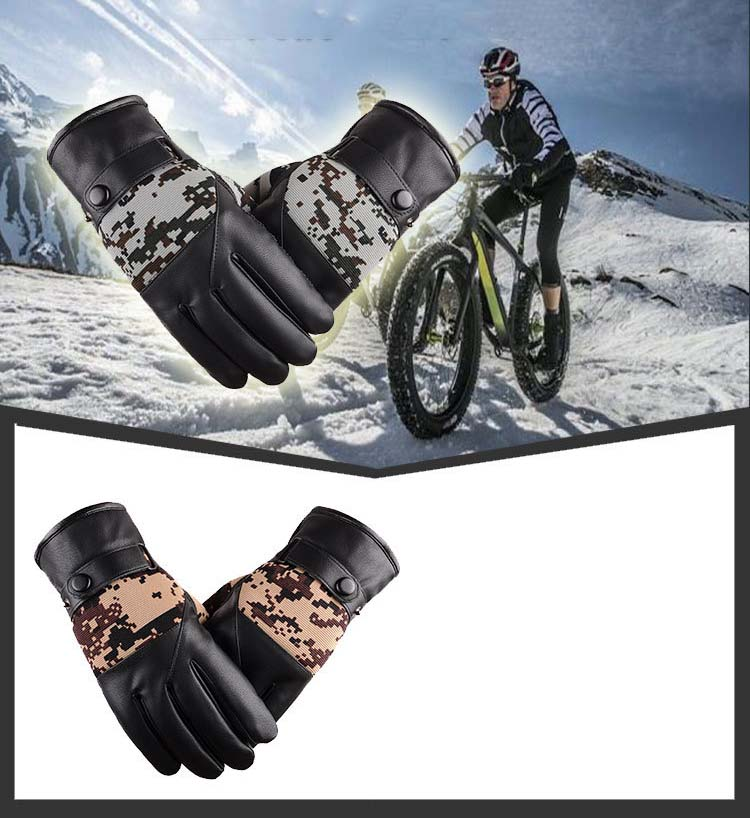 GLV893 Men Winter touch screen font b gloves b font outdoor skiing cycling sports windproof font