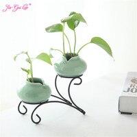 JIA GUI LUO Celadon modern flower simple home living room decoration decoration crafts creative ceramic vase C047