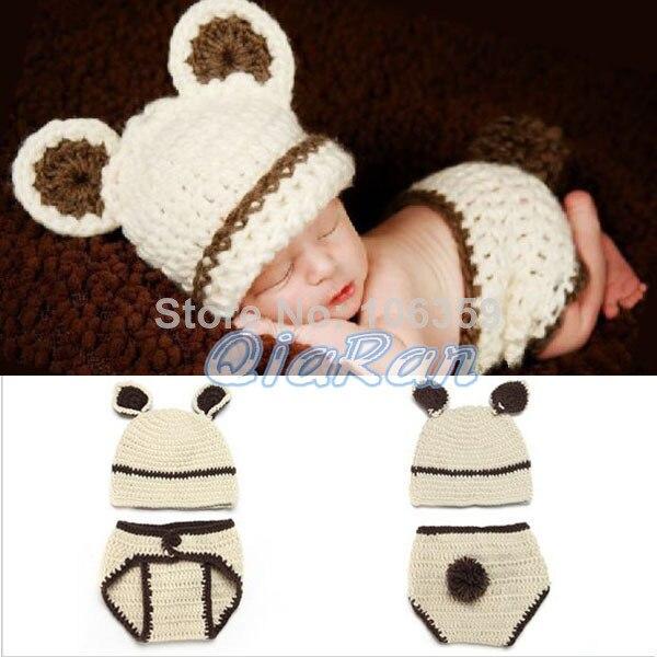 Conejo Crochet conejo del bebé del sombrero con pañal de recién ...
