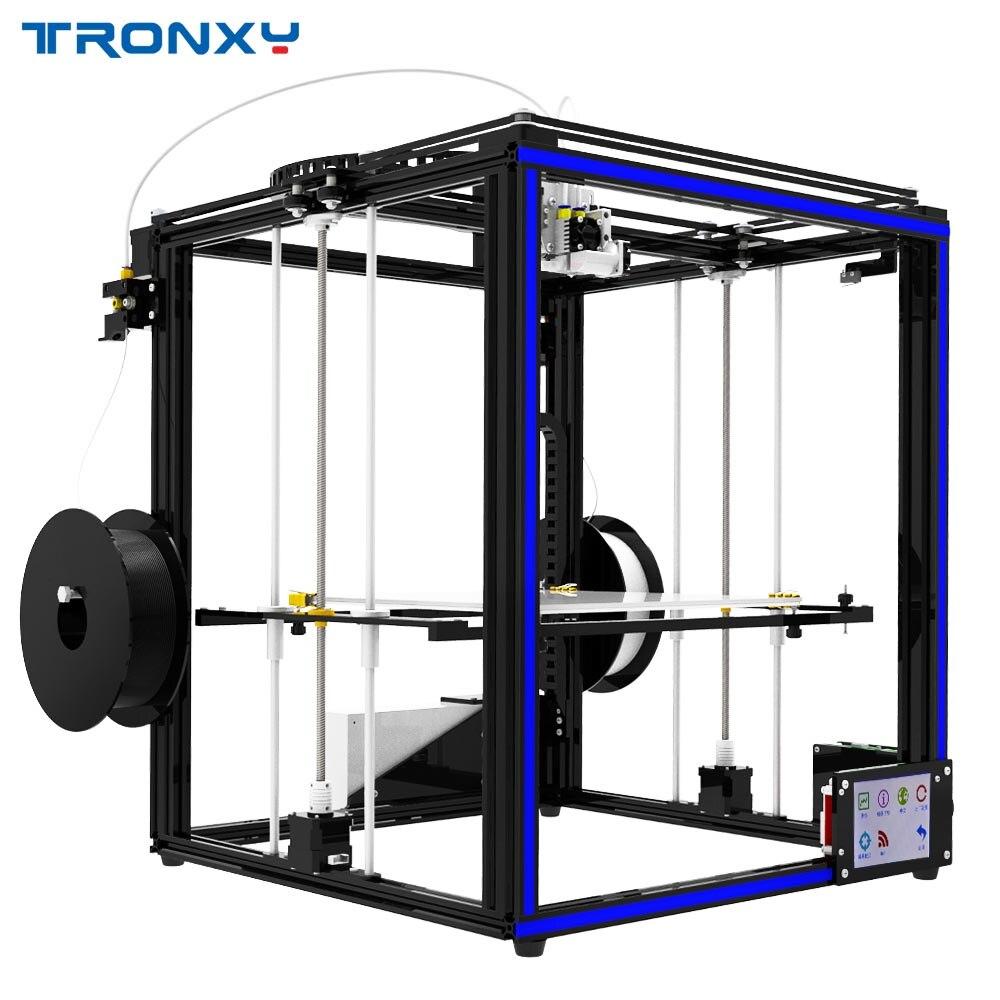 2019 tronxy X5ST-500-2E diy impressora 3d tamanho maior tela de toque cama calor pla 1.75mm filamento 500*500*600mm dupla impressão a cores