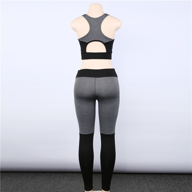 Women Gym Set Fitness Clothing Seamless Leggings Sports Bra Two Piece Yoga Set Workout Sport Suit Running Tracksuit Sports Wear in Yoga Sets from Sports Entertainment