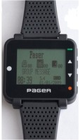 Pocsag paging system receiver, alpha pager watch, text message watch Pager, wireless service call, watch paging receiver