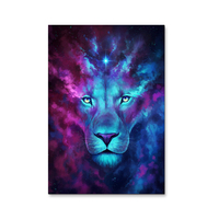 Modern Abstract Blue Lion Canvas Wall Art Oil Painting On Canvas Huge Home Decoration Unique Gift