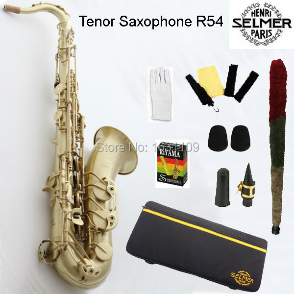 Free shipping Genuine France Selmer Tenor Saxophone R54 Professional B Copper Bronze Sax mouthpiece With Case and Accessories