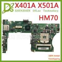 KEFU X401A HM70 Für ASUS X301A X401A X501A motherboard original X401A SLJNV HM70 Unterstützung B820 B960 CPU original-Test