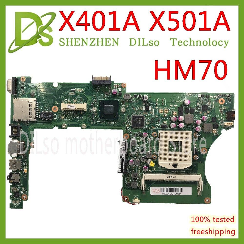 Kefu x401a hm70 para asus x301a x401a x501a placa-mãe original x401a sljnv hm70 suporte b820 b960 cpu teste original