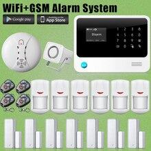 Etiger G90B WIFI GSM Home Burglar Alarm+Motion Sensor+Smoke Detector For Security
