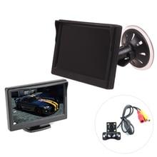 В Автомобиле 5 Дюймов HD LED Парковка Комплект Монитора Обратный Камера Заднего вида Всасывание Маунт Окна и Приборной Панели Крепление