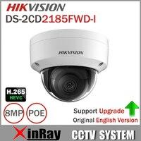 Hikvision 8MP IP Camera DS 2CD2185FWD I Network Dome Camera H 265 High Resolution CCTV Camera