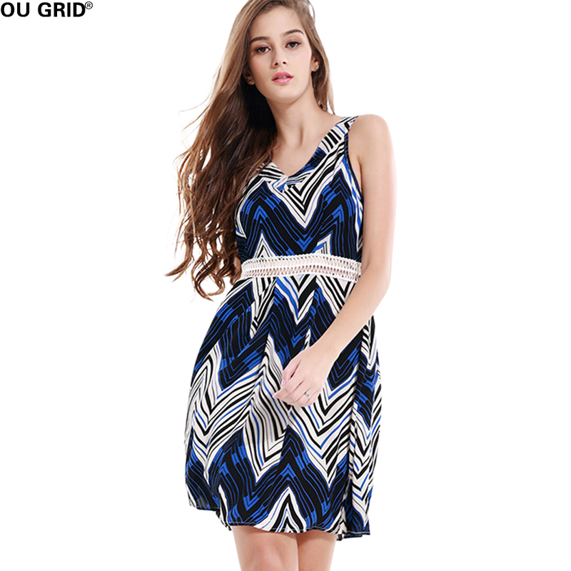 Buy Cheap Vintage Print Summer Dress Women Hollow Out Patchwork Sexy V-neck Slim Elegant Off Shoulder A-line Casual Dresses