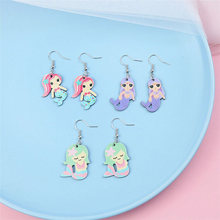 2018 New Arrival 1Pair Korean Unique Pegasus Beautiful Animals Cartoon Seaside Mermaid High Quality Earring Gifts Allergy Free  sc 1 st  AliExpress.com & Popular Unique Mermaid Gifts-Buy Cheap Unique Mermaid Gifts lots ...