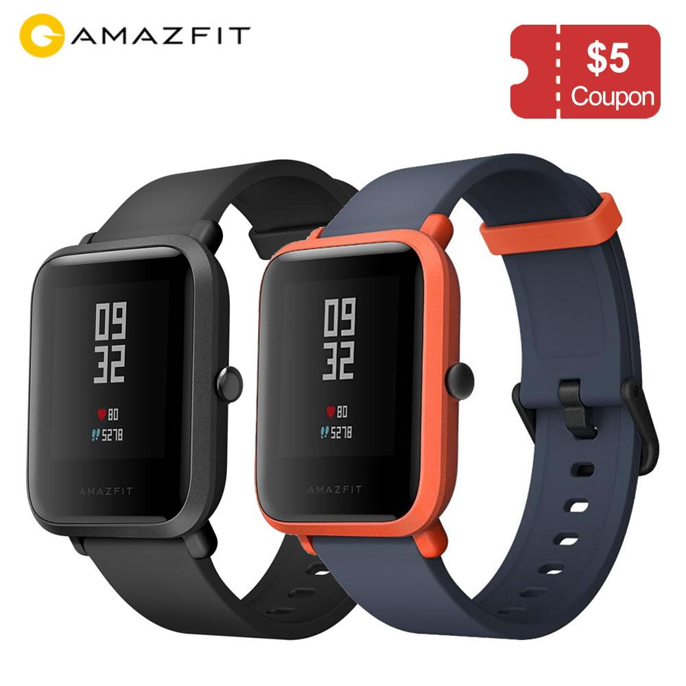 Global version Xiaomi Huami Amazfit Bip Ultra light 32g sport Smartwatch with WiFi Bluetooth GPS 45days