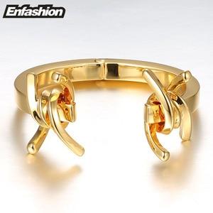 Image 3 - Enfashion תכשיטי קוצים דוקרני צמיד Noeud armband זהב צבע צמיד צמיד לנשים קאף צמידי Manchette צמידים