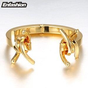 Image 3 - Enfashion Trang Sức Gai Thép Gai Vòng Tay Noeud Tay Màu Vàng Lắc Tay Vòng Đeo Tay Cho Nữ Đeo Vòng Tay Manchette Kiểu Lắc Tay