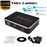 Ezcap HDMI Video Capture HD Game Capture Card 1080P One Click Video Recorder for WiiU Xbox 360 Xbox One/ PS3 PS4 No PC Enquired