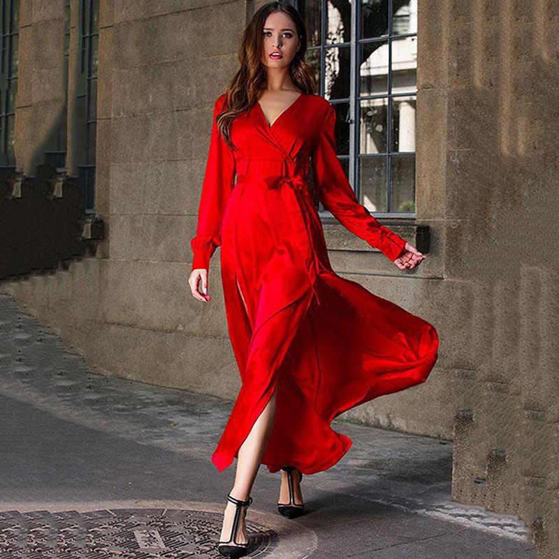 Nieuwe Boho Sexy Rode Jurk Vrouwen Lange Jurken Elegante Prom Vestido De Fiesta Plisse Dress Party Night Plus Size Maxi jurken Vrouwen