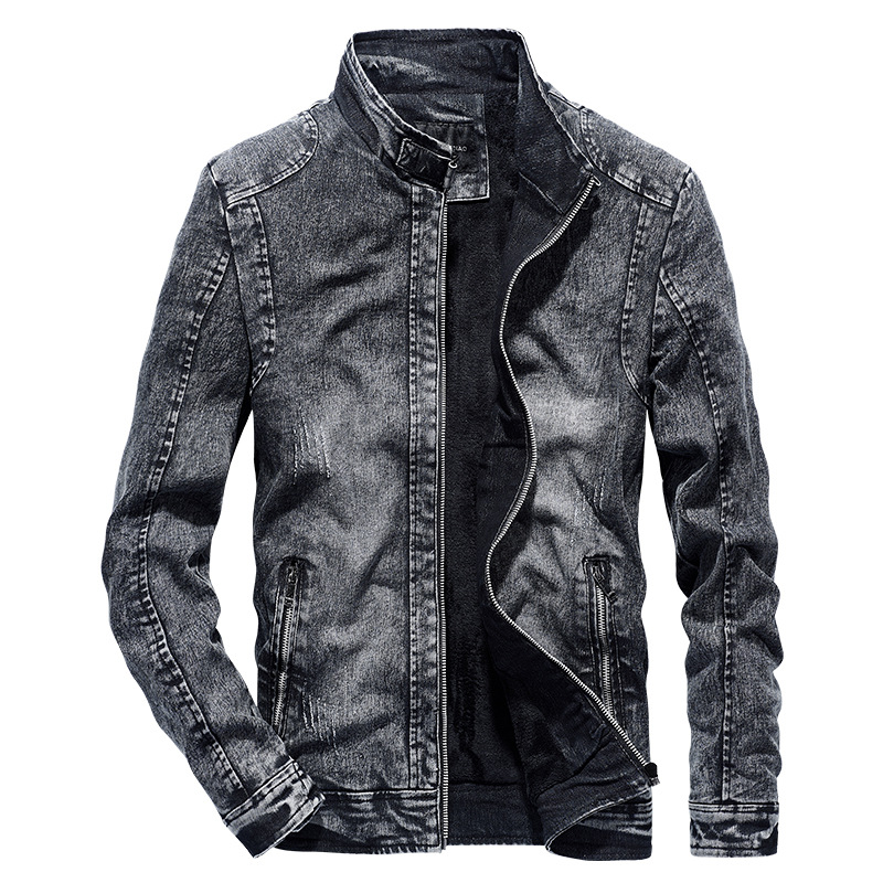 New 2019 Autumn Winter Warm Thick Fleece Denim Jacket High Quality Men Jacket Brand Clothing Jackets Men(China)