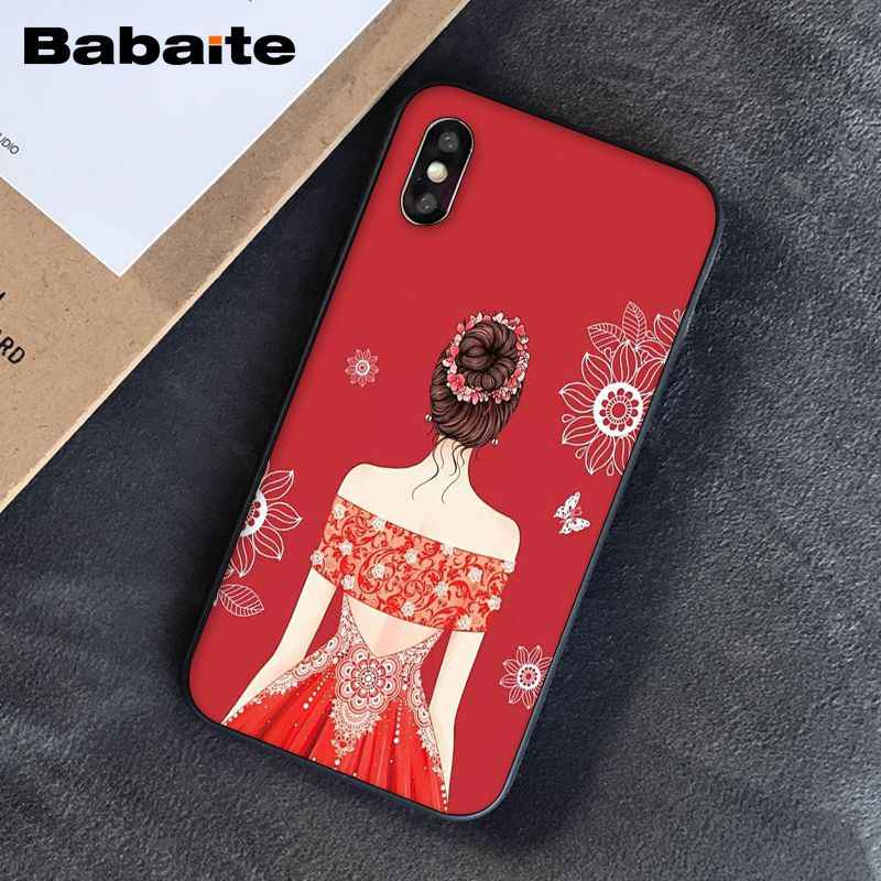 Babaite הכלה שמלת רך סיליקון TPU טלפון כיסוי עבור אפל iPhone 8 7 6 6S בתוספת X XS מקסימום 5 5S SE XR כיסוי