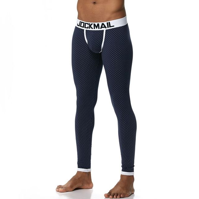 JOCKMAIL Brand Men Long Johns Cotton Thermal Underwear Men Warm Long Johns Leggings Pants High Quality