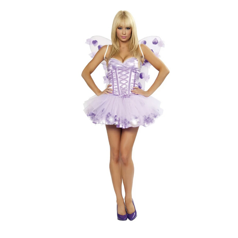 Halloween High Quality New Pet Fairy Clothing Lavender Fairy Clothes Ladies Masquerade Party Theatrical Costume Cute Princess Sk