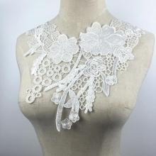 50pcs/lot Wedding Dress White Lace Collar Sewing Supplies Crafts Flower Edge Guipure Fabric