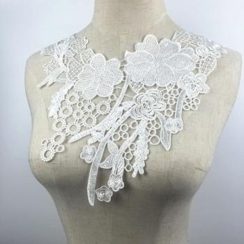 50pcs/lot Wedding Dress White Lace Collar Sewing Supplies Crafts Flower Collar Edge Guipure Lace Fabric