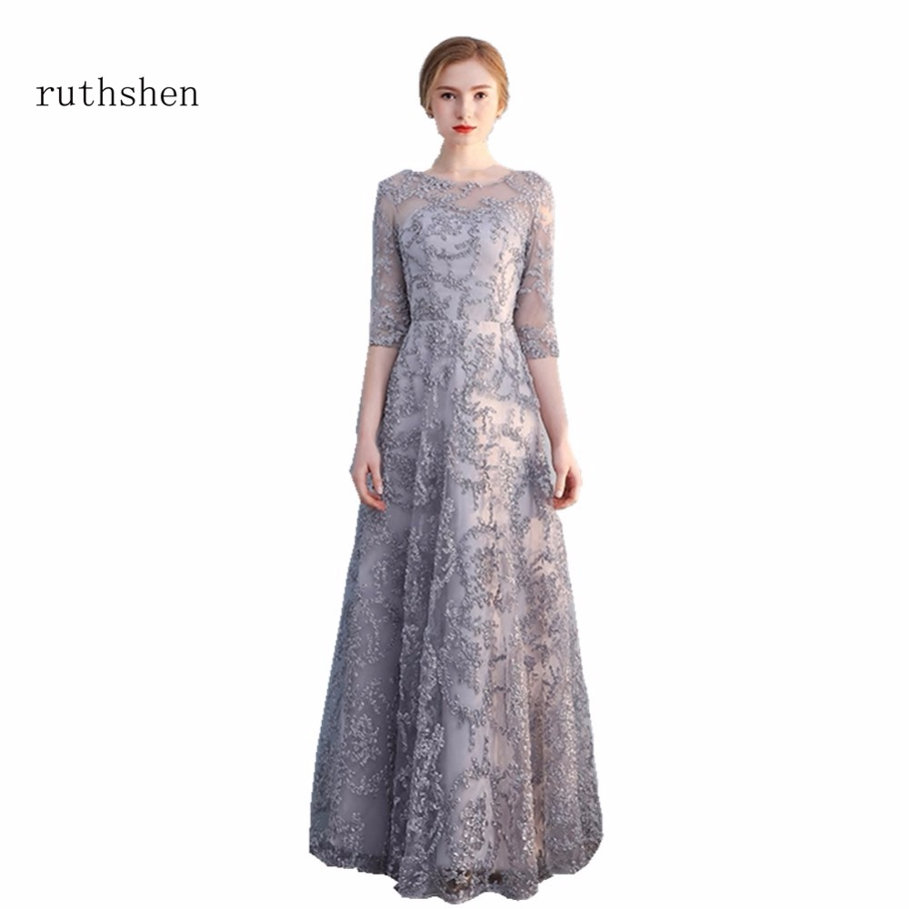 ruthshen Vestidos Long Sleeves Prom Dresses For Women