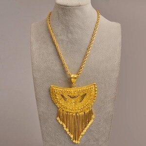 Image 3 - Anniyo מאוד גדול אפריקה תליון שרשראות לנשים זהב צבע האתיופית/ניגריה/קונגו/סודן/גאנה/תכשיטים ערבים #098506