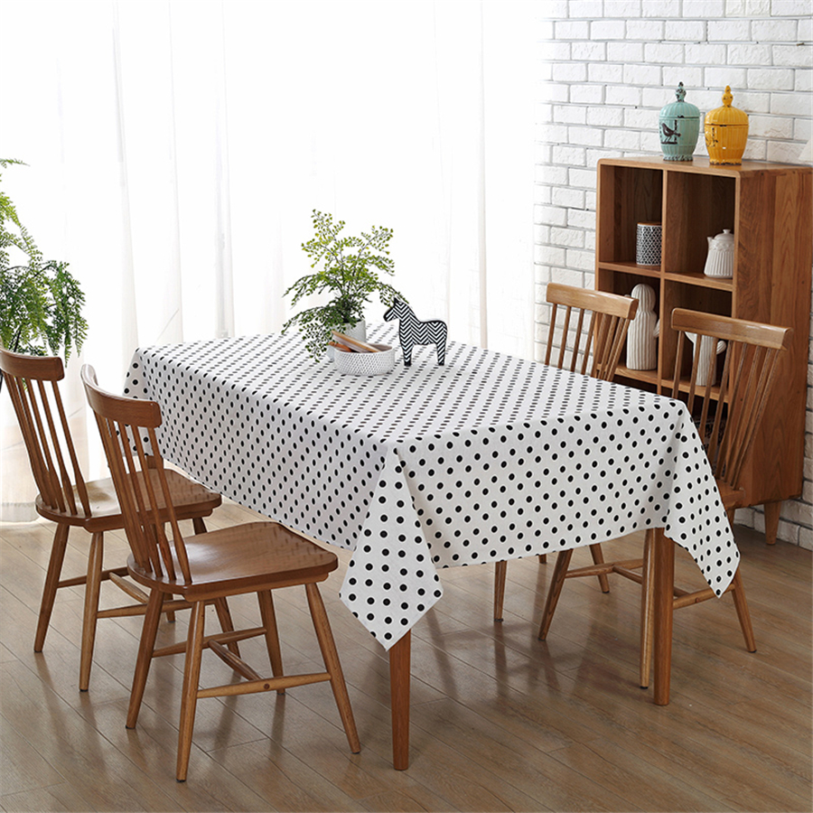 online get cheap table cloth white aliexpresscom  alibaba group - dots pattern printed tablecloth modern tablecloths banquet decoration partydustproof white table cloth toalha de mesa