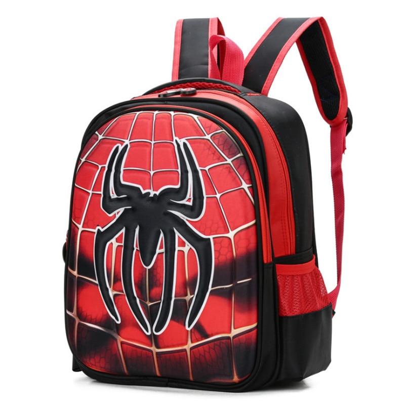 2018 3d 3 6 Year Old School Bags For Boys Waterproof Backpacks Child Spiderman Book Bag Kids Shoulder Satchel Knapsack