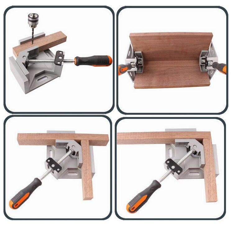 Nouvel outil à main 90 degrés fixer Clip à Angle droit attelle angulaire balançoire mâchoire pince d'angle pour le travail du bois cadre Aquarium montage