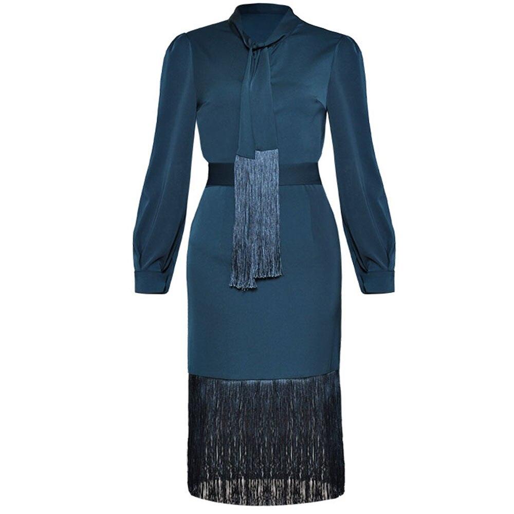 Czerwony RoosaRosee 2019 Hot lato kobiet bluzka z krótkim rękawem 2 sztuka zestaw z długim rękawem Tassel Shirt topy + Szczupła spódnica eleganckie biuro pani Ol garnitur w Zestawy damskie od Odzież damska na  Grupa 1