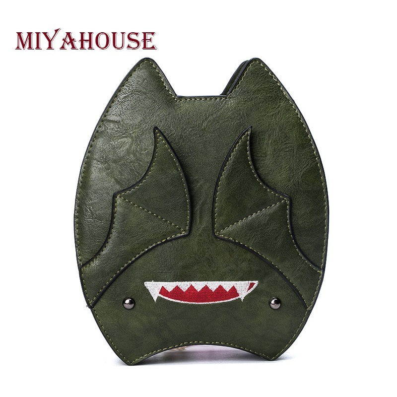 Miyahouse Cute Character Bat Design Embroidery Shoulder Bag Women Fashion Ellipse Messenger Bag For Female Summer Lady Bag 100 super cute little embroidery chinese embroidery handmade art design book